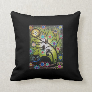 Lori Everett_ Day Of The Dead, Cat, Throw Pillows