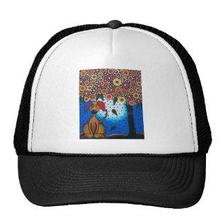Lori Everett_ Day Of The Dead_Dog, Doggie Art Trucker Hat