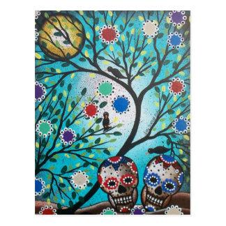 Lori Everett_ Day Of The Dead_Mexican_Skulls_DOD Postcard