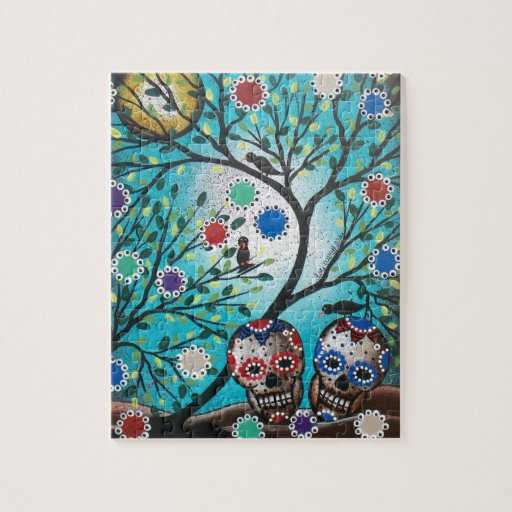 Lori Everett_ Day Of The Dead_Mexican_Skulls_DOD Puzzle