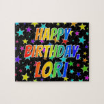"[ Thumbnail: ""Lori"" First Name, Fun ""Happy Birthday"" Jigsaw Puzzle ]"