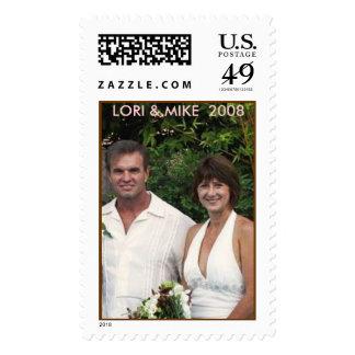 LORI & MIKE  2008 POSTAGE STAMP