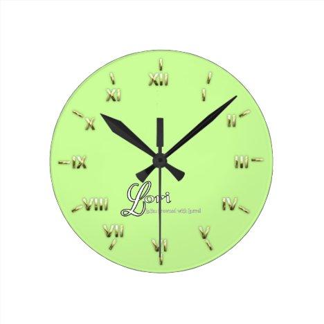 Lori Personalized Name Gifts Round Clock