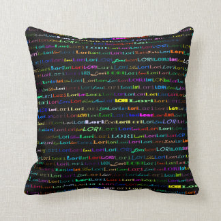 Lori Text Design I Throw Pillow