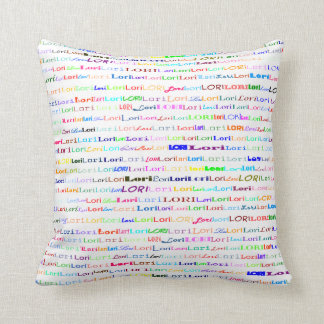 Lori Text Design II Throw Pillow
