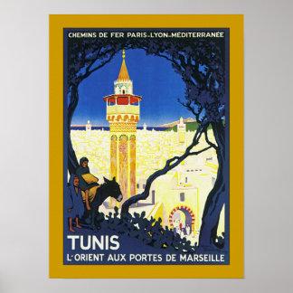 ~ L'Orient Portes aux. de Marsella de Túnez Posters
