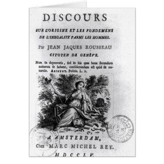 'l'Origine y les Fondements de Discours Tarjeta De Felicitación
