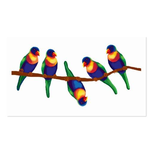 Lorikeets del arco iris tarjetas de visita