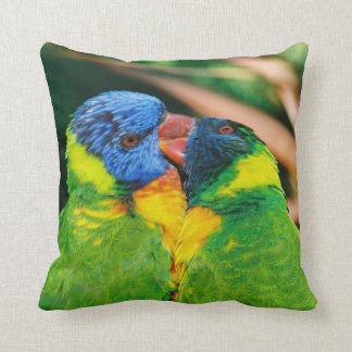 Lorikeets in Love Throw Pillows