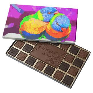 Lorikeets Love Birds Couple 45 Piece Box Of Chocolates