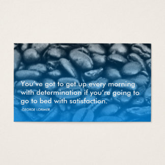 lorimer determination quote business card