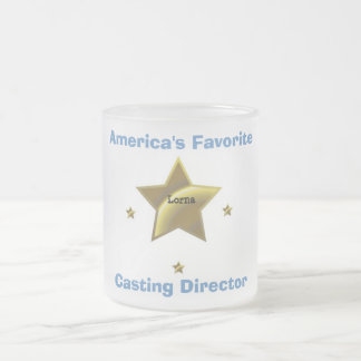 LORNA: AMERICA'S FAVORITE CASTING DIRECTOR FROSTED GLASS COFFEE MUG