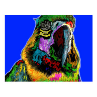 Loro (acuarela) tarjeta postal
