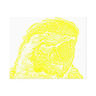 loro amarillo gráfico del esquema de la opinión pr impresión en lona estirada