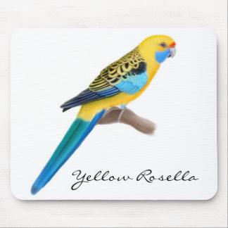 Loro amarillo Mousepad de Rosella Alfombrilla De Ratón