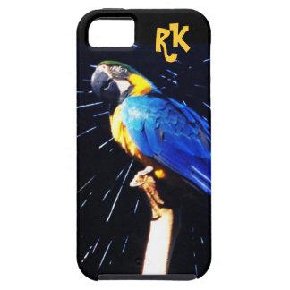 Loro azul con el caso del ambiente del iPhone 5 de iPhone 5 Case-Mate Cárcasas