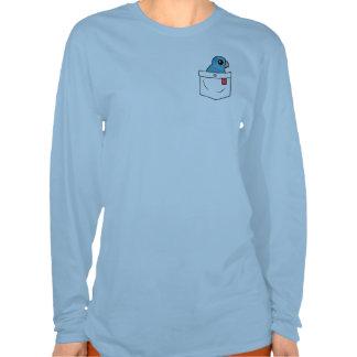 Loro azul del bolsillo camiseta