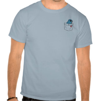 Loro azul del bolsillo camisetas