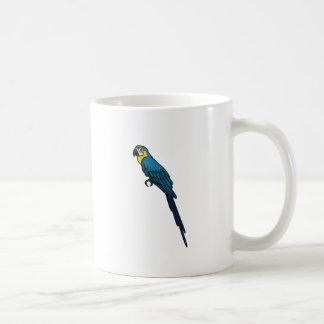 Loro azul taza básica blanca