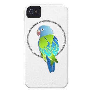 Loro azul y verde tropical iPhone 4 Case-Mate carcasa