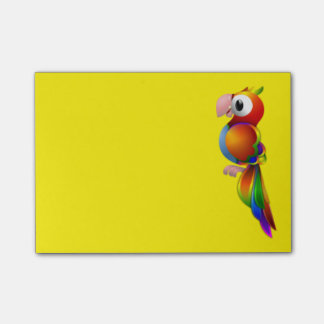 Loro colorido notas post-it®