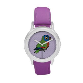 Loro de la Santa Lucía de Birdorable Reloj
