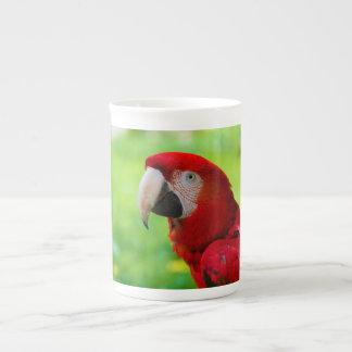 Loro del americano de Macao del Ara del Macaw del Tazas De China