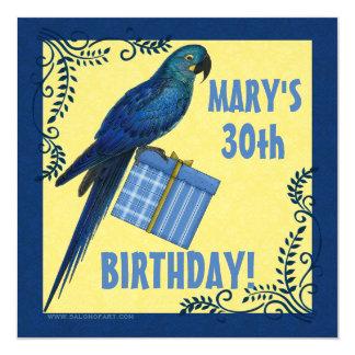 Loro del Macaw de la invitación de la fiesta de Invitación 13,3 Cm X 13,3cm