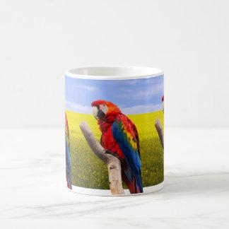 Loro del macaw del escarlata taza clásica