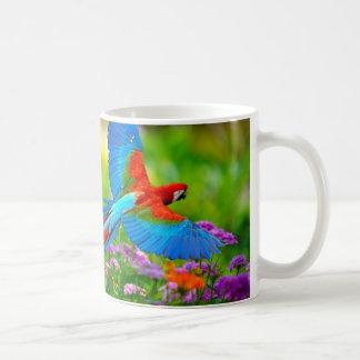 Loro del Macaw Tazas De Café