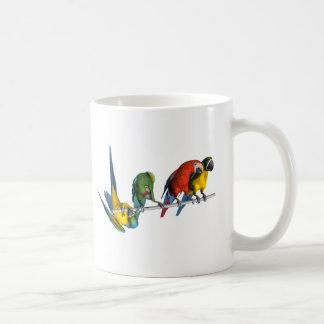 Loro del Macaw Taza Básica Blanca