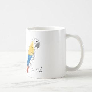loro del mitad-color taza blanca clásica de 11