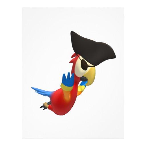 Loro del pirata tarjetas informativas