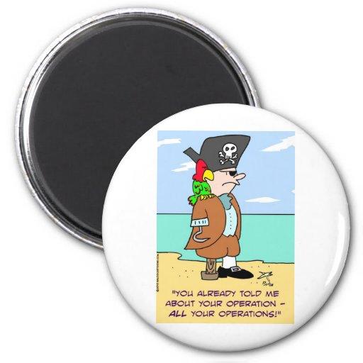loro del pirata hablado de operaciones iman de nevera