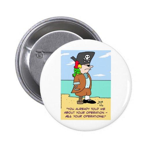 loro del pirata hablado de operaciones pin redondo 5 cm