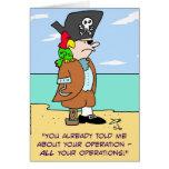 loro del pirata hablado de operaciones tarjeta