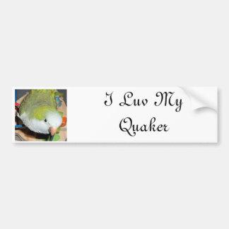 Loro del Quaker Pegatina Para Auto