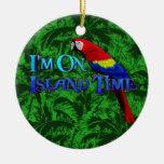 Loro del tiempo de la isla adornos de navidad