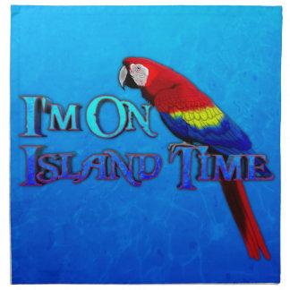 Loro del tiempo de la isla servilletas