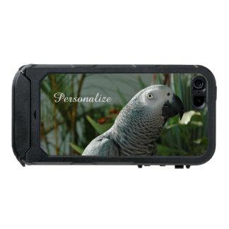 Loro dignificado del gris africano funda para iPhone 5 incipio ATLAS ID