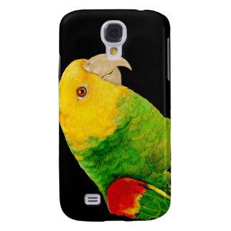 Loro dirigido amarillo doble del Amazonas Funda Para Galaxy S4