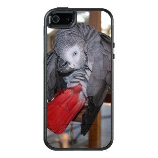 Loro flexible del gris africano de Congo con la Funda Otterbox Para iPhone 5/5s/SE