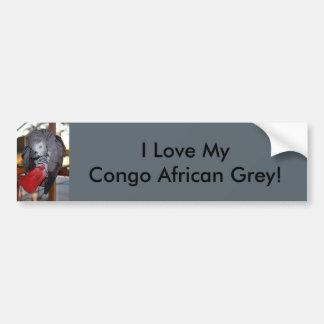 Loro flexible del gris africano de Congo con la Pegatina Para Auto