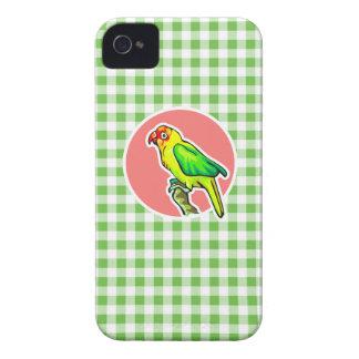 Loro Guinga verde Case-Mate iPhone 4 Carcasa