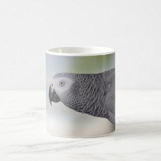 Loro magnífico del gris africano taza de café
