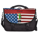 Loro patriótico conocido personalizado bolsas para portatil