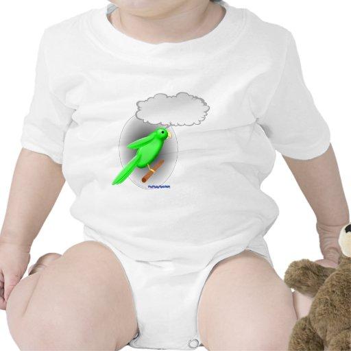 Loro que habla traje de bebé
