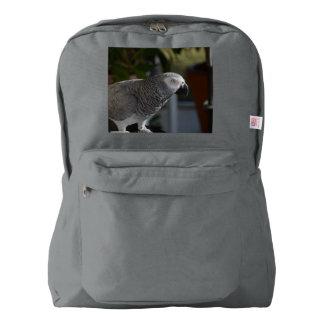 Loro sereno del gris africano mochila