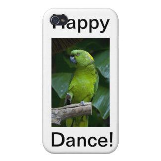 Loro verde de baile iPhone 4/4S carcasas