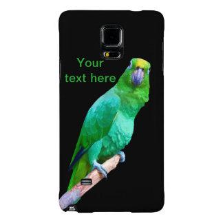 Loro verde del Macaw en un personalizable del Funda Galaxy Note 4